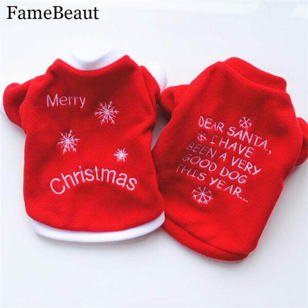 "Dog Clothes ""Merry Christmas"""