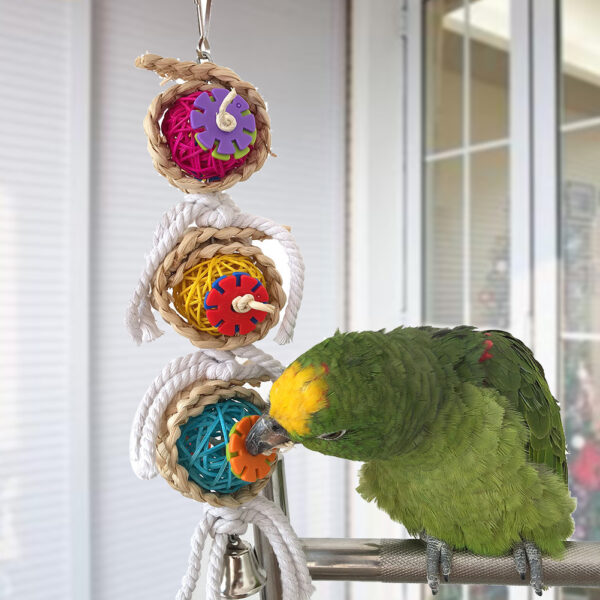 Parrot Cage Bird Toys With Bell